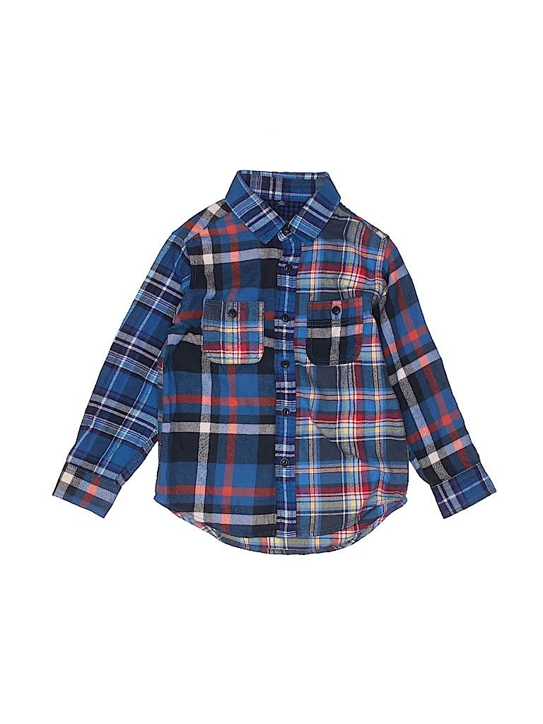 Uniqlo Boys Long Sleeve Button-Down Shirt Size 110 (CM)