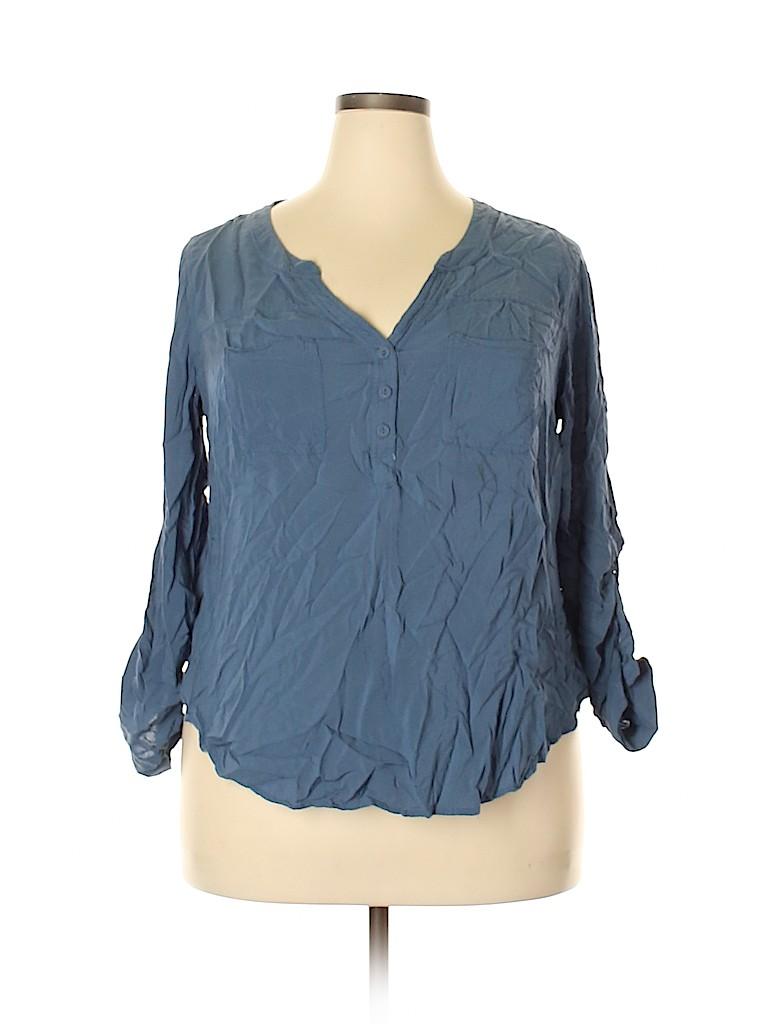 Torrid Women Long Sleeve Blouse Size 1X Plus (1) (Plus)
