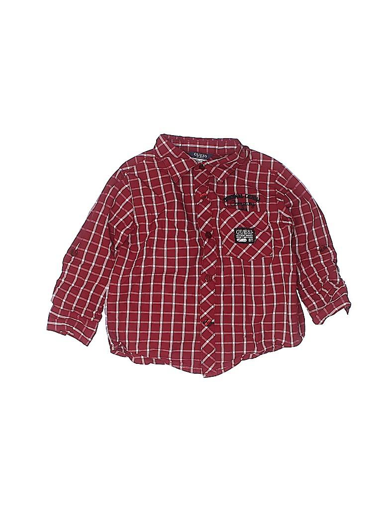 Guess Boys Long Sleeve Button-Down Shirt Size 24 mo