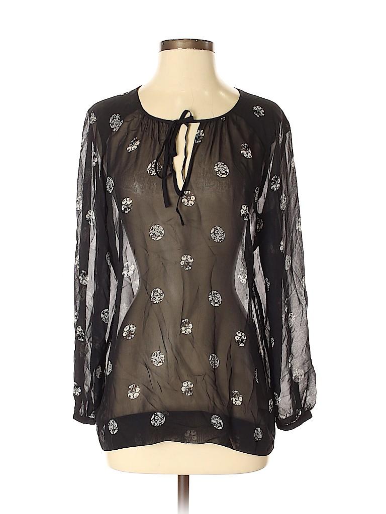 Club Monaco Women Long Sleeve Silk Top Size S