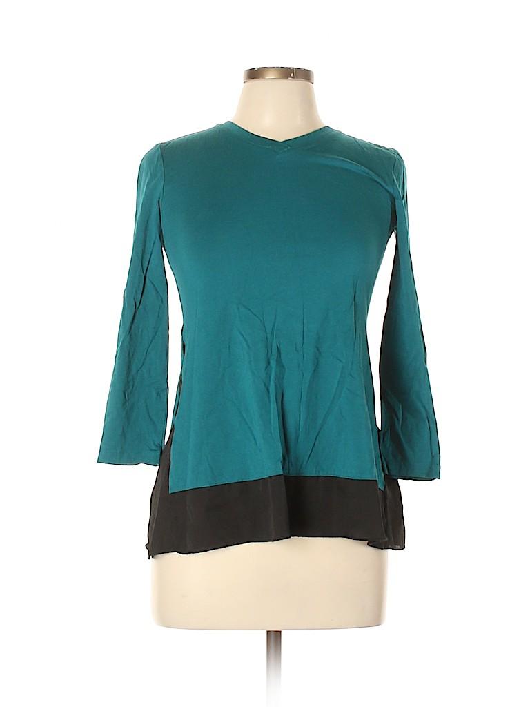 LOGO by Lori Goldstein Women 3/4 Sleeve Top Size 12