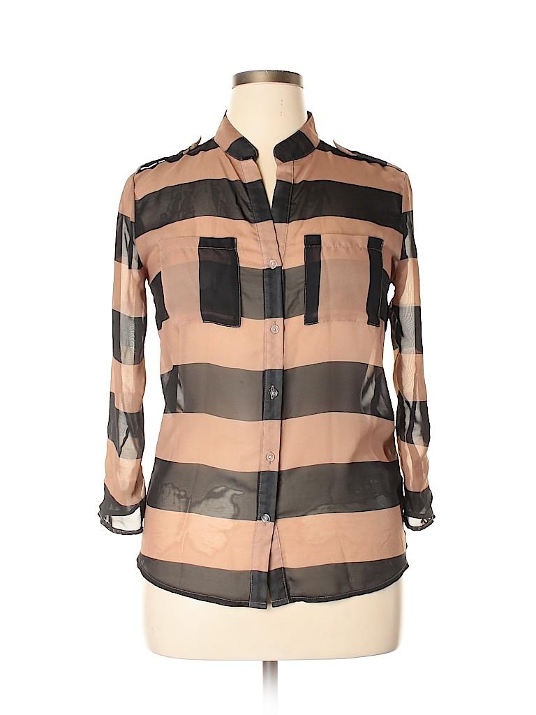 Justify Women 3/4 Sleeve Blouse Size M