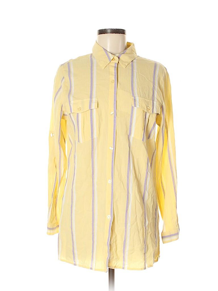 Denim & Co Women Long Sleeve Button-Down Shirt Size M