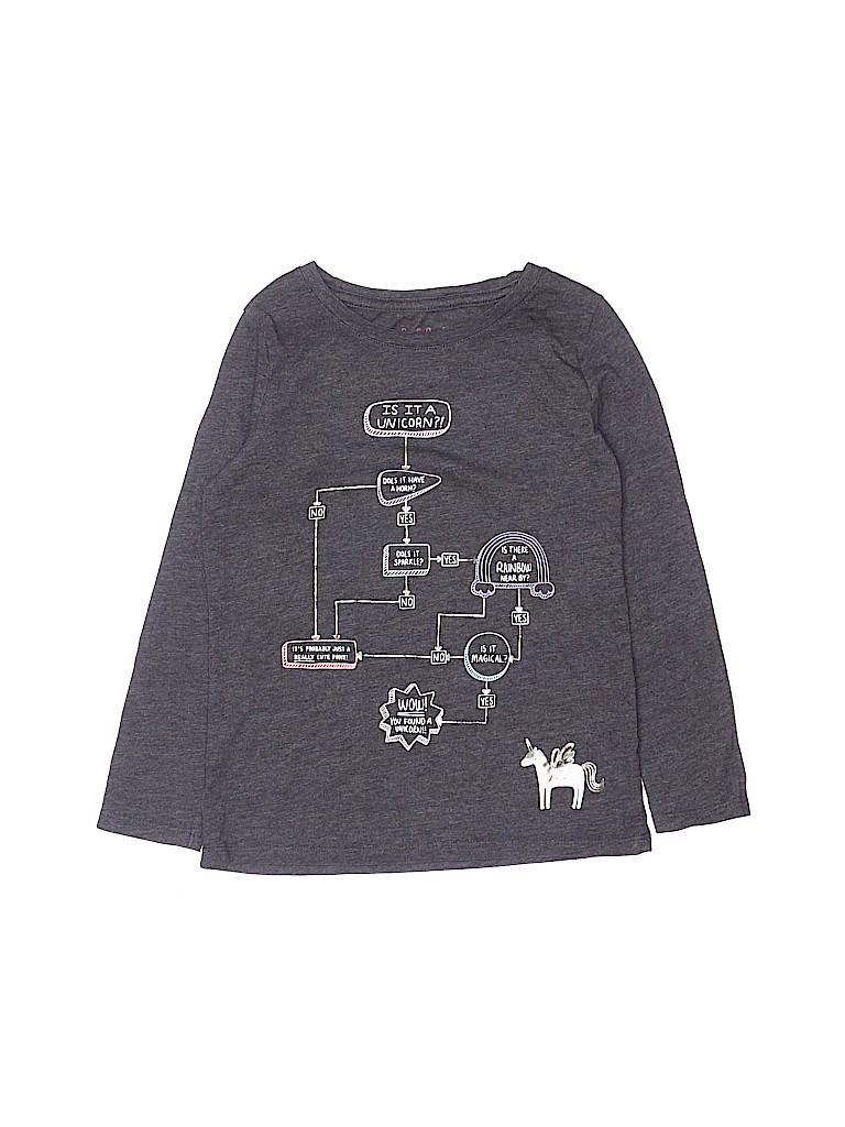 Cat & Jack Girls Long Sleeve T-Shirt Size 4 - 5
