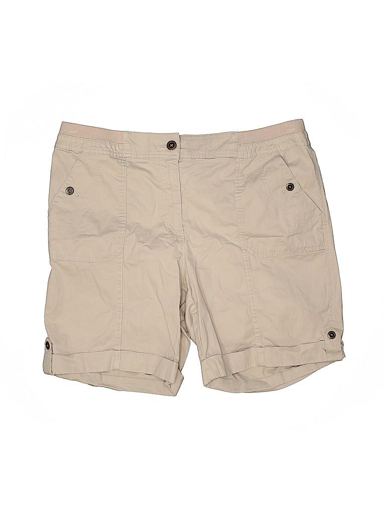 Karen Scott Women Khaki Shorts Size 14