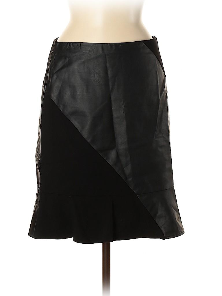Ann Taylor Women Faux Leather Skirt Size 4