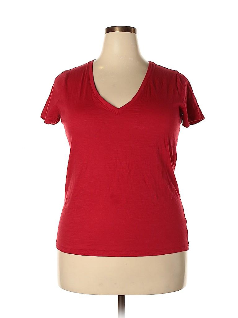 A New Day Women Short Sleeve T-Shirt Size XXL