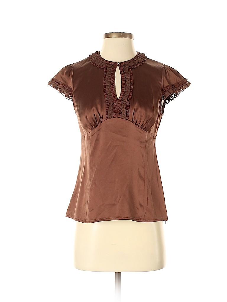 Nanette Lepore Women Short Sleeve Silk Top Size 4