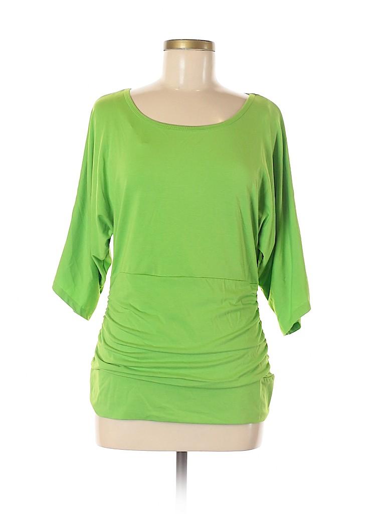 Peter Nygard Women Short Sleeve Top Size M