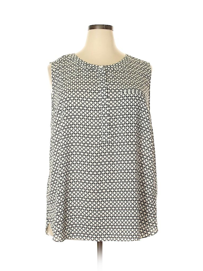 NYDJ Women Sleeveless Blouse Size 2X (Plus)