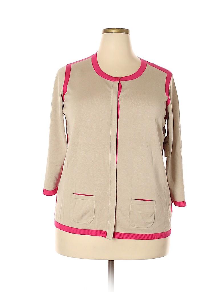 Coldwater Creek Women Silk Cardigan Size 1X (Plus)