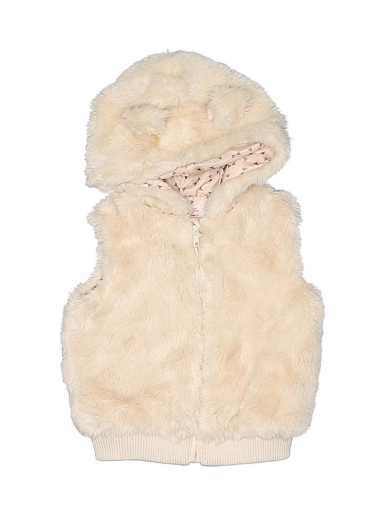 H&M Girls Faux Fur Vest Size 2T