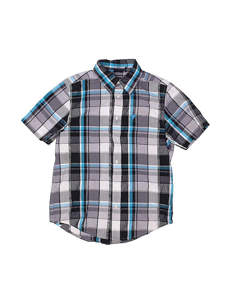 Wrangler Jeans Co Boys Short Sleeve Button-Down Shirt Size 10 - 12