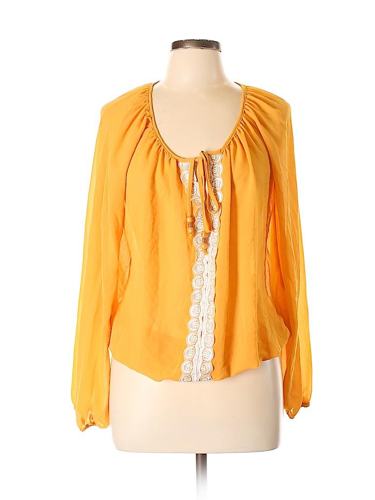 XOXO Women Long Sleeve Blouse Size L