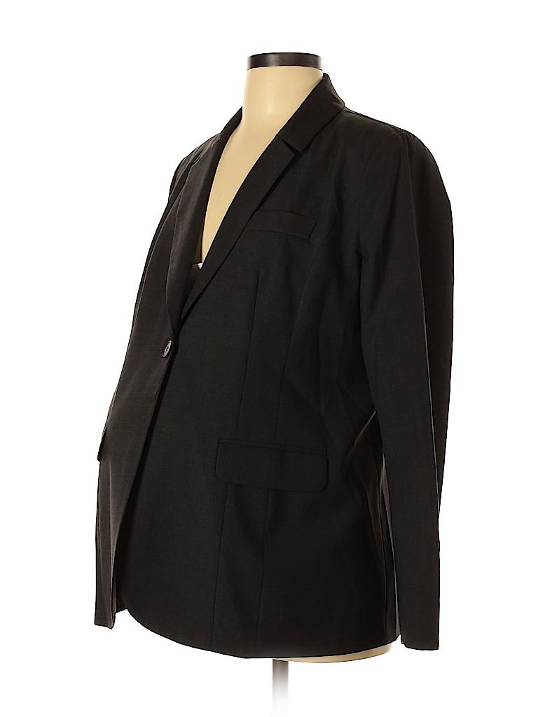 A Pea in the Pod Women Wool Blazer Size L (Maternity)