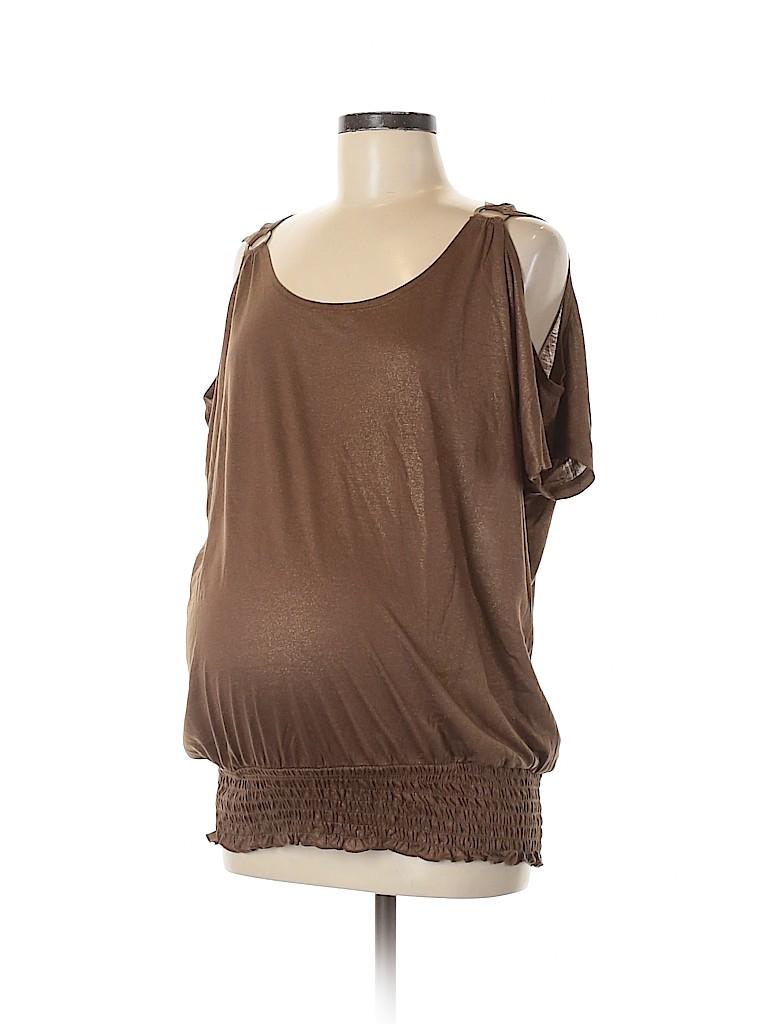 Inspire Maternity Women Short Sleeve Top Size L (Maternity)