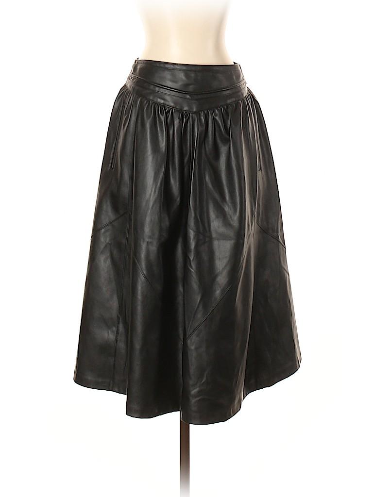 Zara Basic Women Faux Leather Skirt Size S