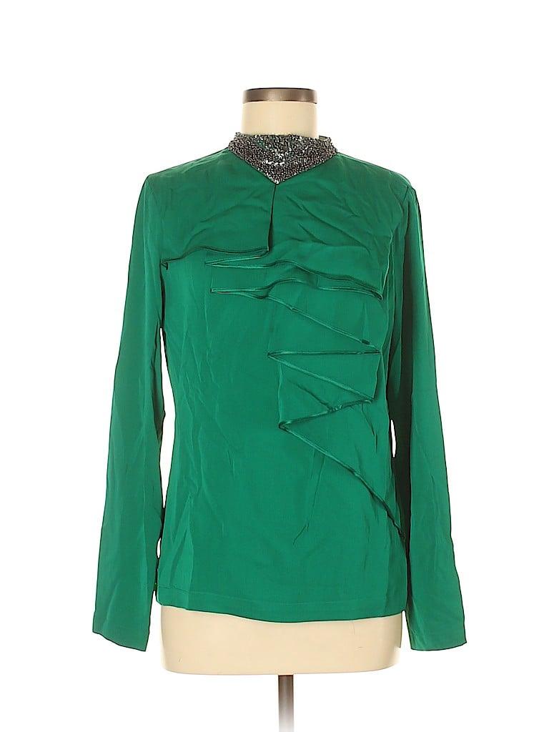Robert Rodriguez Women Long Sleeve Silk Top Size 6