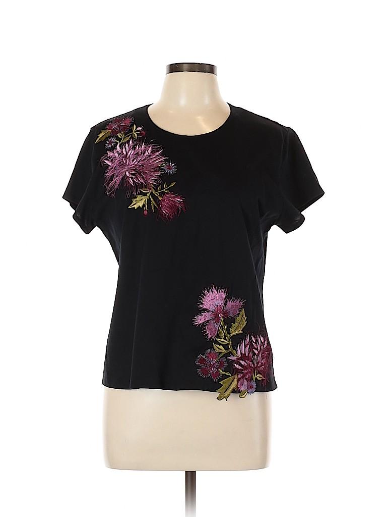 Josie Natori Women Short Sleeve Top Size L
