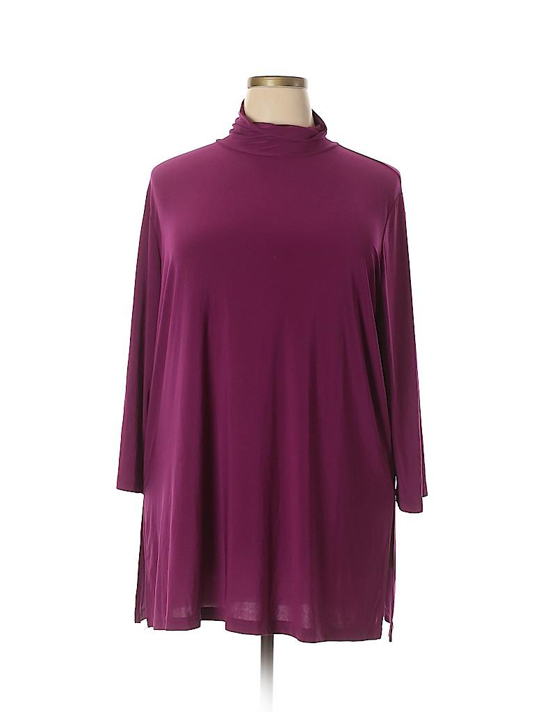Slinky Brand Women Long Sleeve Top Size 2X (Plus)