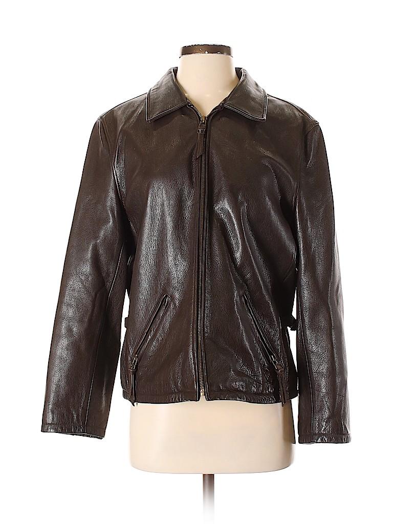 Preston & York Women Leather Jacket Size S