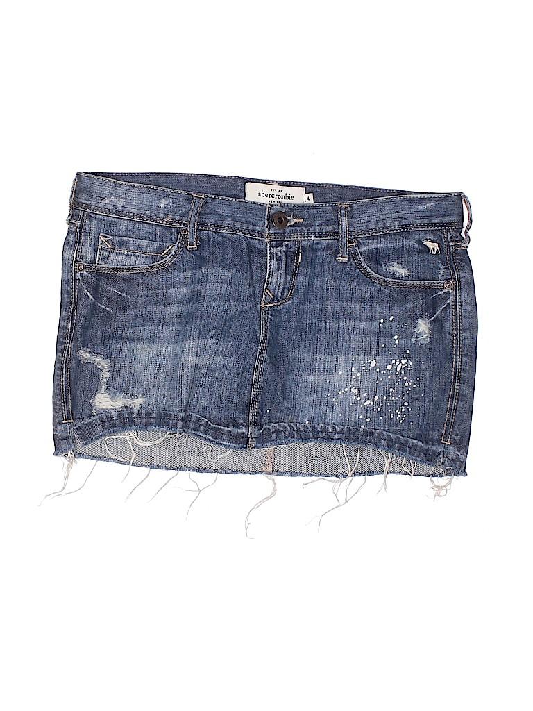 Abercrombie & Fitch Girls Denim Skirt Size 14