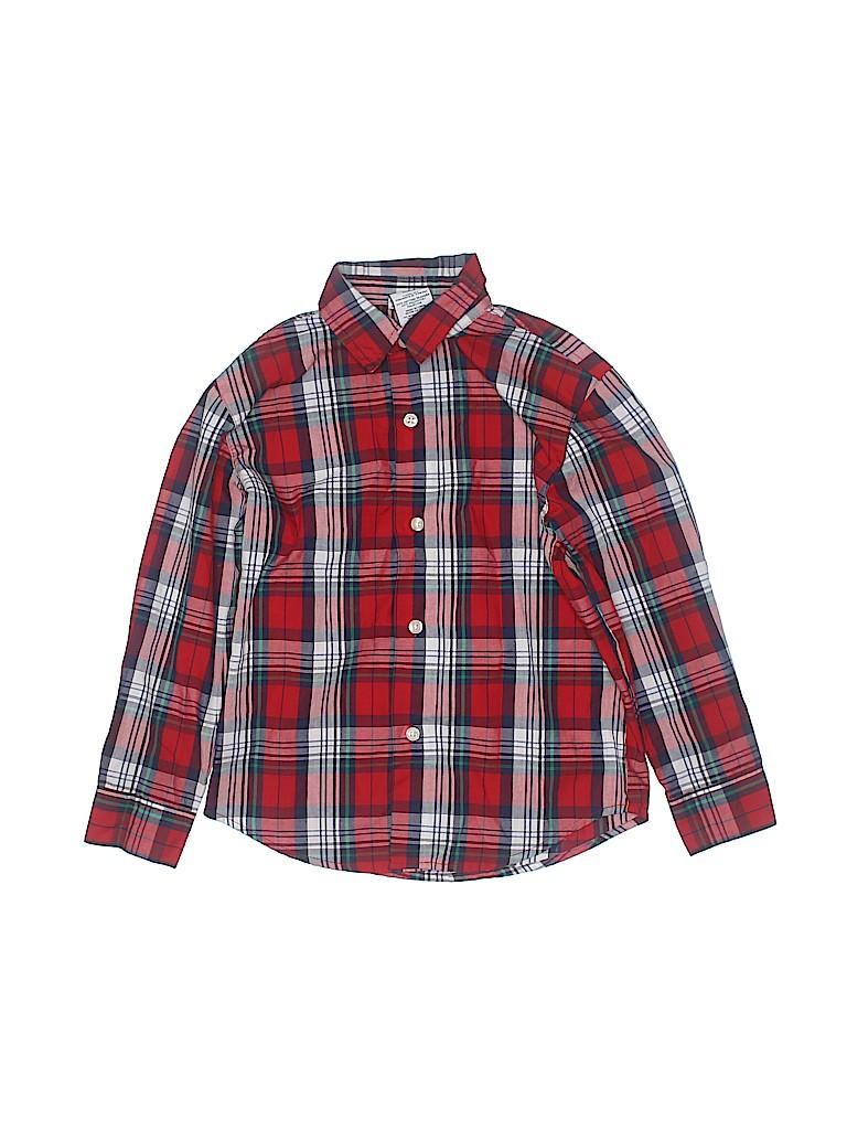 IZOD Boys Long Sleeve Button-Down Shirt Size 7