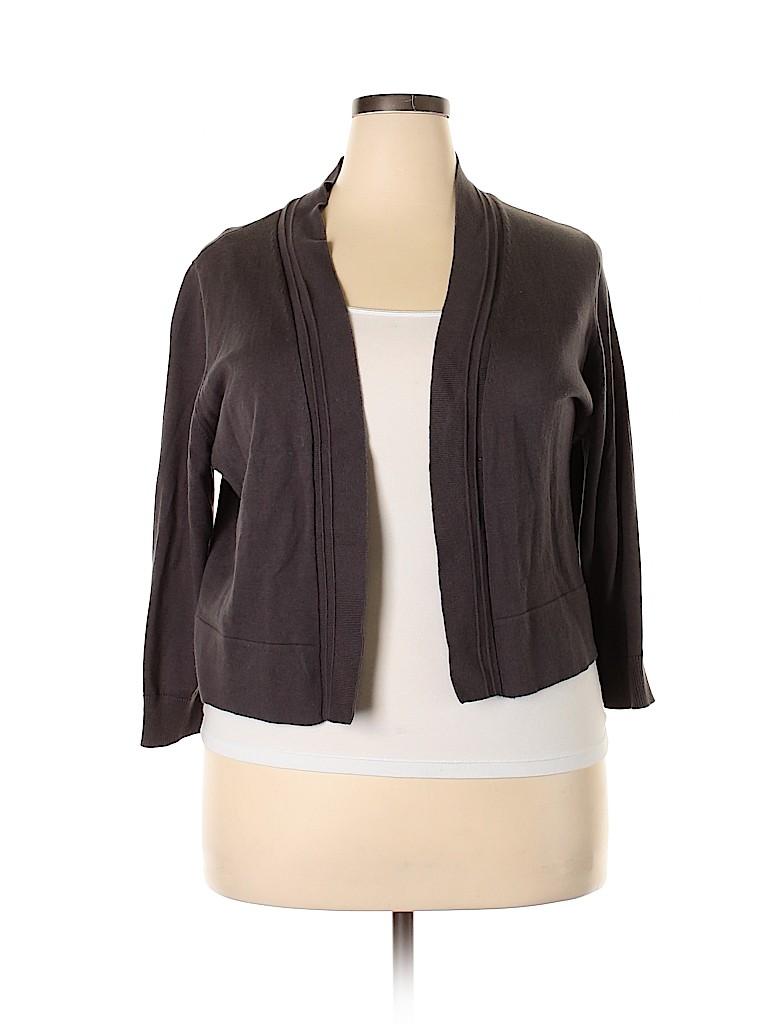 Jones New York Women Cardigan Size 1X (Plus)