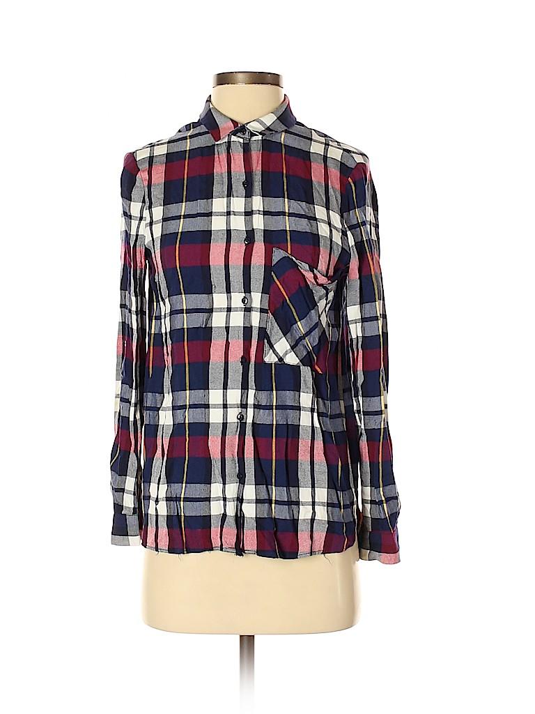 Zara TRF Women Long Sleeve Button-Down Shirt Size S