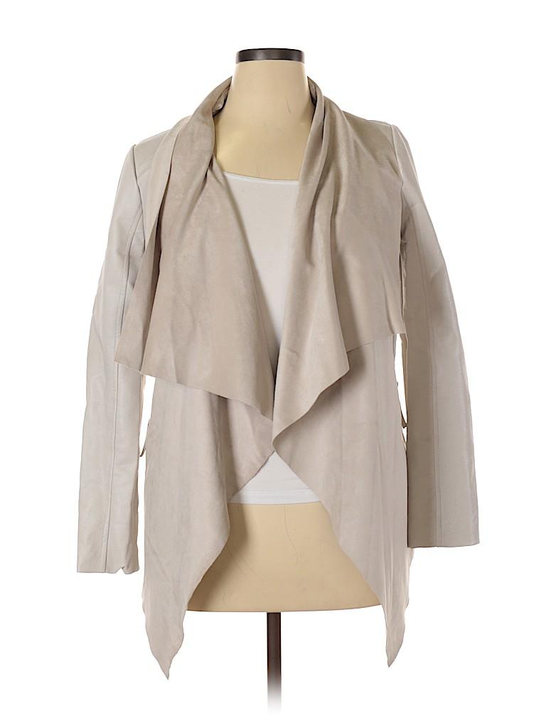 BNCI by Blanc Noir Women Faux Leather Jacket Size L