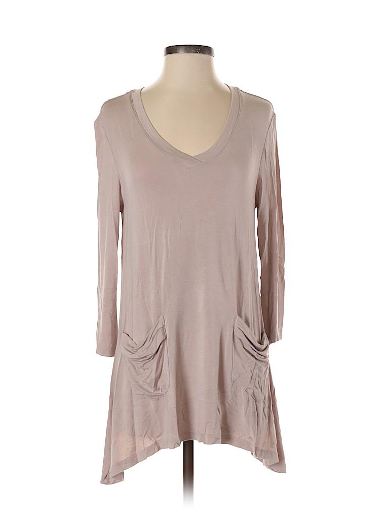 LOGO by Lori Goldstein Women 3/4 Sleeve Top Size S