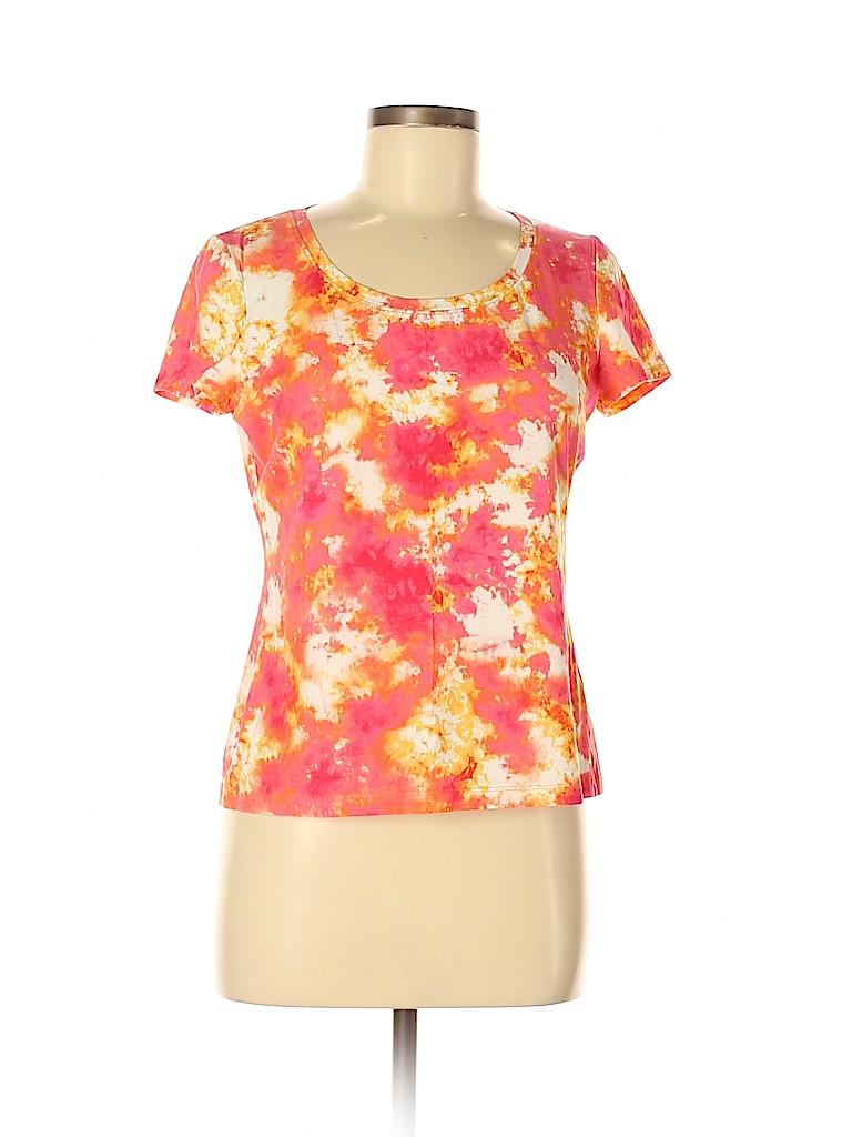 Lafayette 148 New York Women Short Sleeve T-Shirt Size M