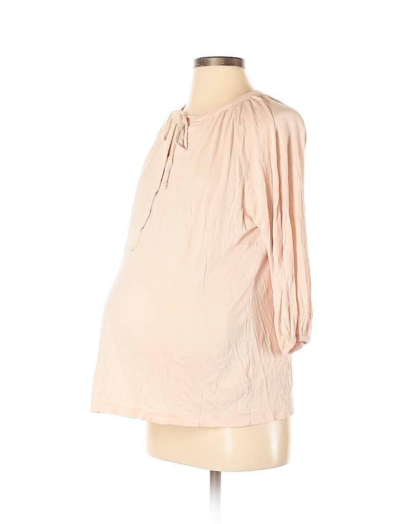 Gap - Maternity Women 3/4 Sleeve Top Size L (Maternity)