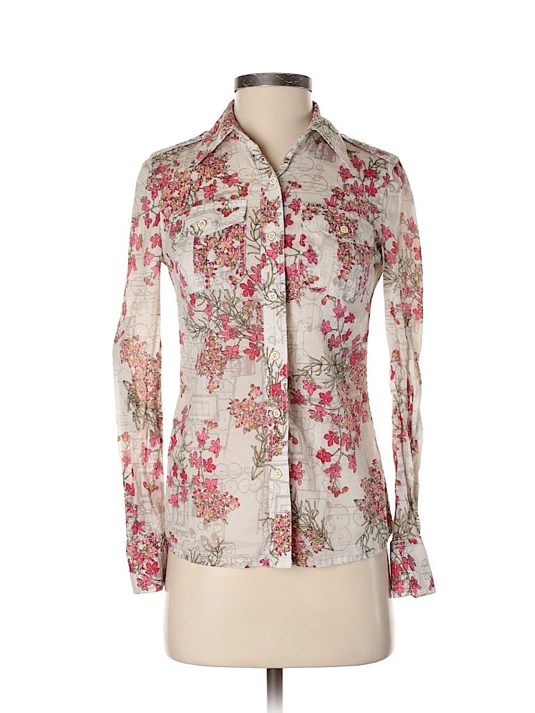 Tory Burch Women Long Sleeve Button-Down Shirt Size 0