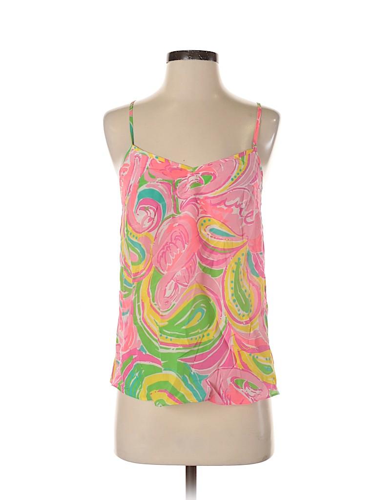 Lilly Pulitzer Women Sleeveless Silk Top Size XS