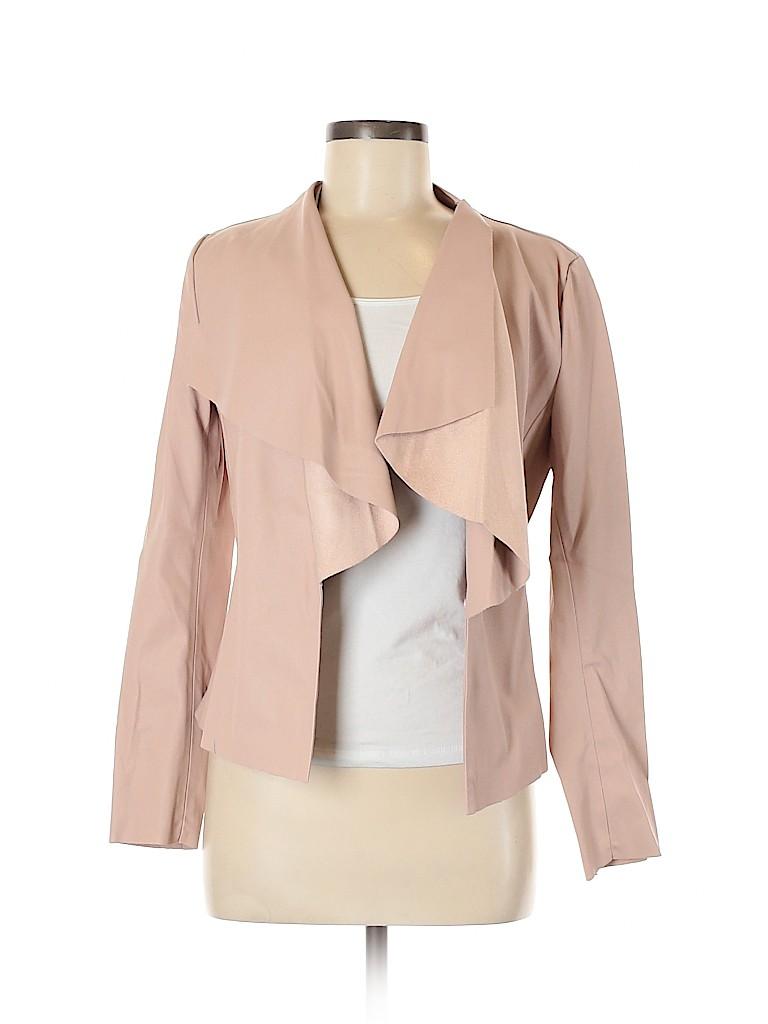 Zara Basic Women Faux Leather Jacket Size M