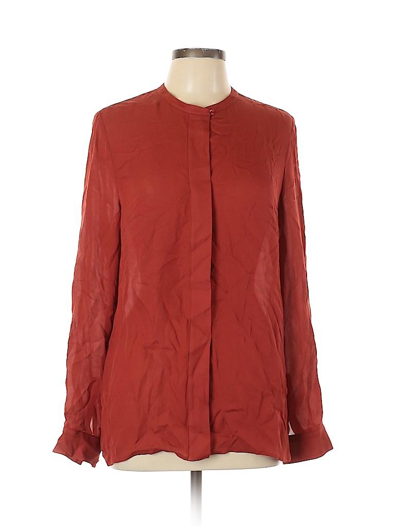 Vince. Women Long Sleeve Silk Top Size 10