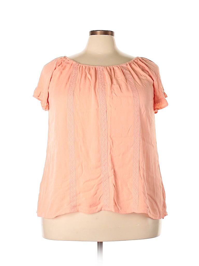 Torrid Women Short Sleeve Top Size 1X Plus (1) (Plus)