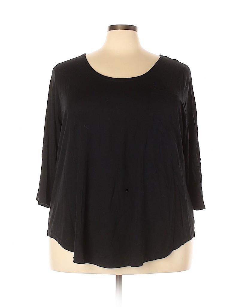 Lane Bryant Women 3/4 Sleeve Top Size 26 - 28 (Plus)