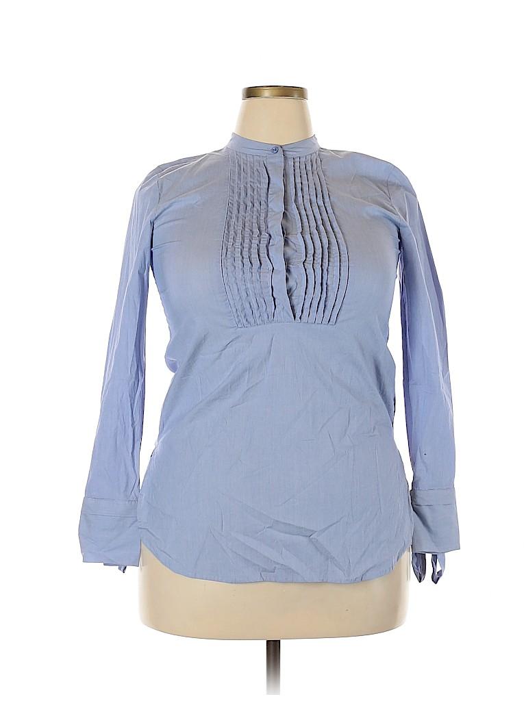 Ann Taylor Women Long Sleeve Blouse Size 32 (Plus)