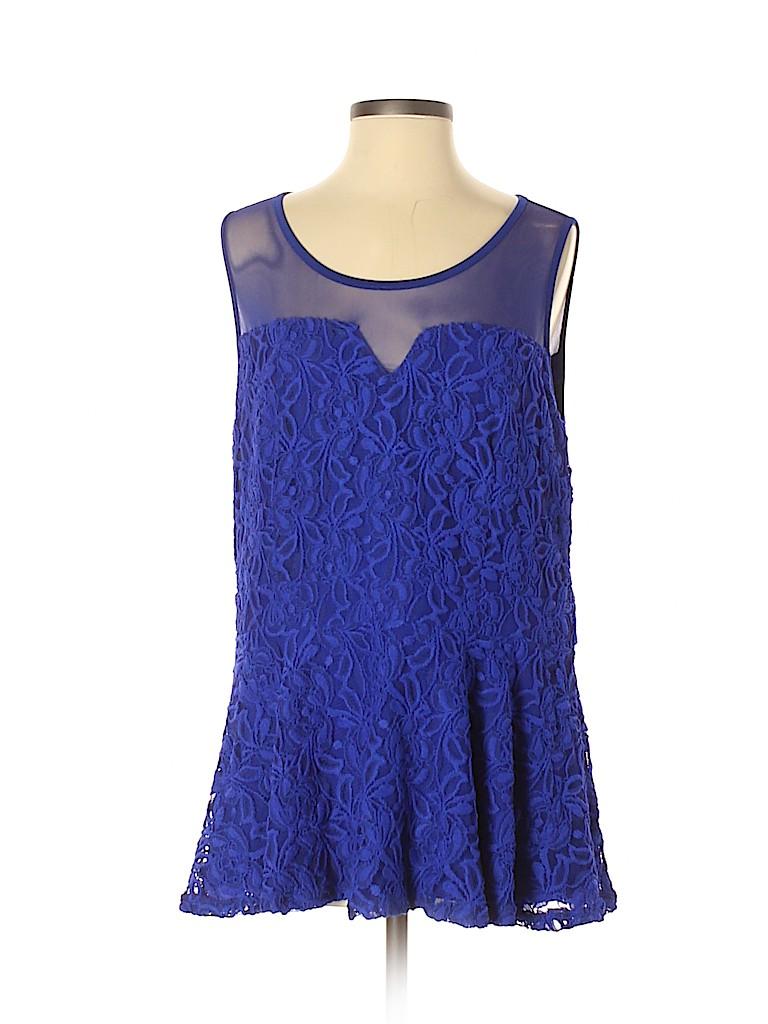 City Chic Women Sleeveless Blouse Size S (Plus)
