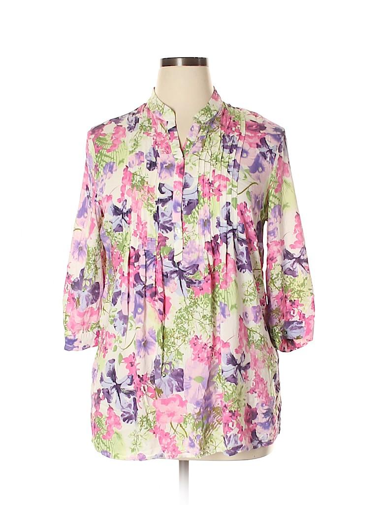 Assorted Brands Women 3/4 Sleeve Blouse Size 18 (UK)
