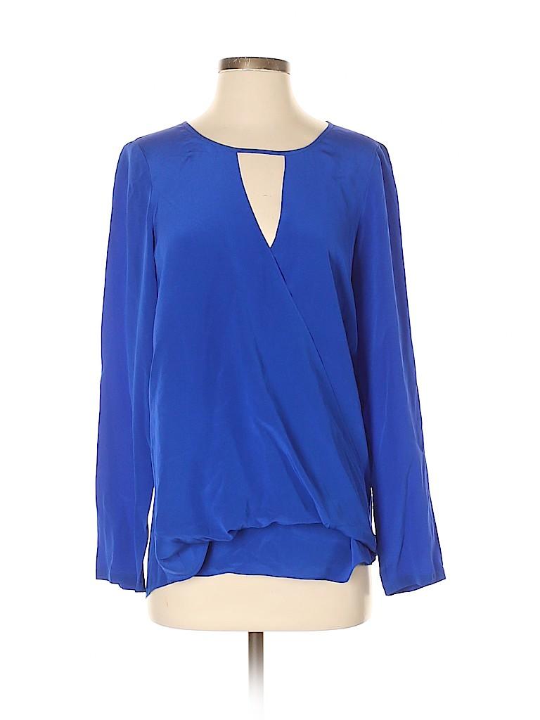 Jay Godfrey Women Long Sleeve Silk Top Size 4