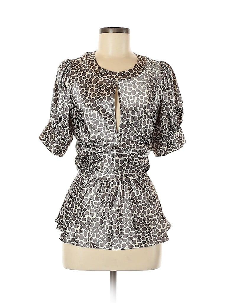 Vertigo Paris Women Short Sleeve Blouse Size M
