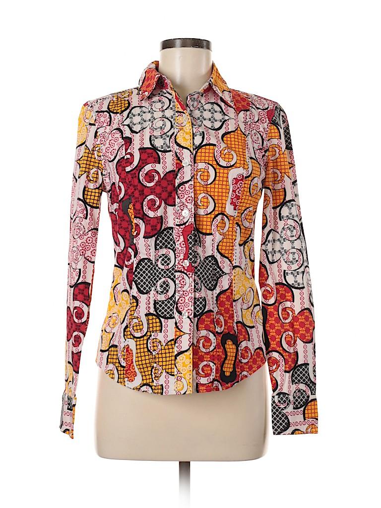 Madison Women Long Sleeve Button-Down Shirt Size 6