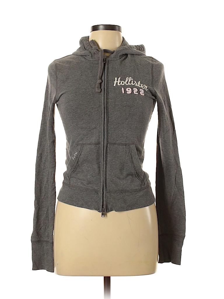 Hollister Women Zip Up Hoodie Size M