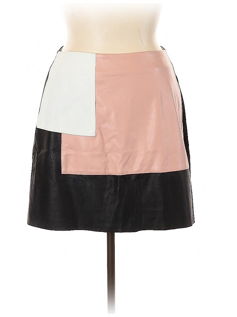 City Chic Women Faux Leather Skirt Size 14 Plus (XS) (Plus)