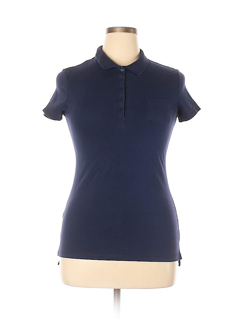 No Boundaries Women Short Sleeve Polo Size L