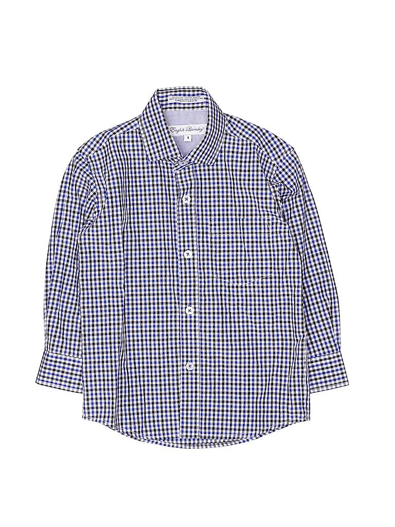 English Laundry Boys Long Sleeve Button-Down Shirt Size 4