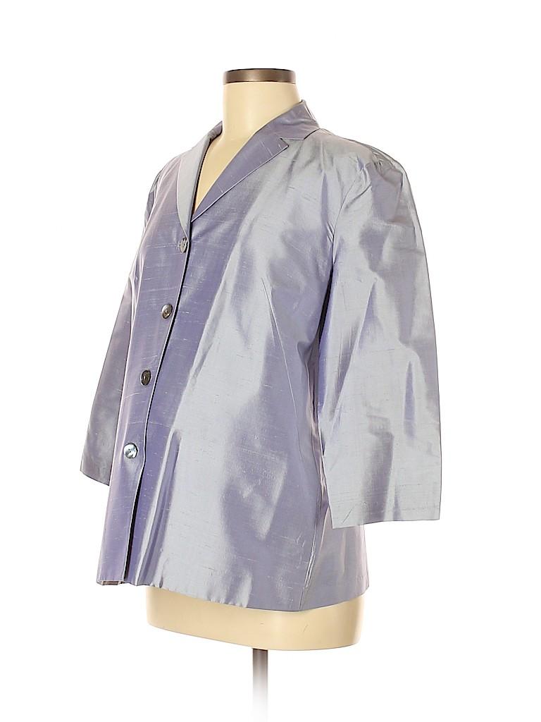 A Pea in the Pod Women Silk Blazer Size M (Maternity)